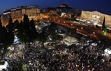 Austerity protest in Athens, Greece