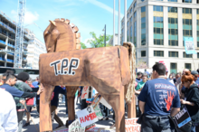 """""""Stop Fast Track"""" rally in Washington D.C., April 2015"""